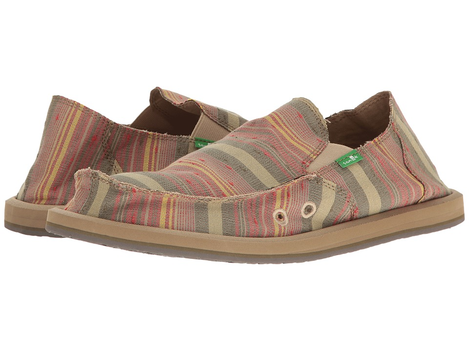 Sanuk - Donny (OG VintageDenim Stripe) Men's Slip on Shoes