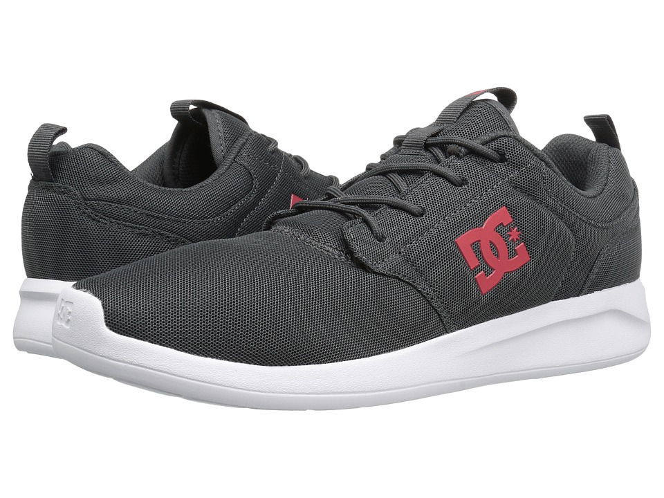 DC - Midway (Grey/Red) Men's Shoes