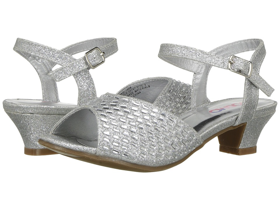 Josmo Kids - 55147M Peep Toe Ankle Strap Sandal (Little kid/Big Kid) (Silver Shine) Girl's Shoes