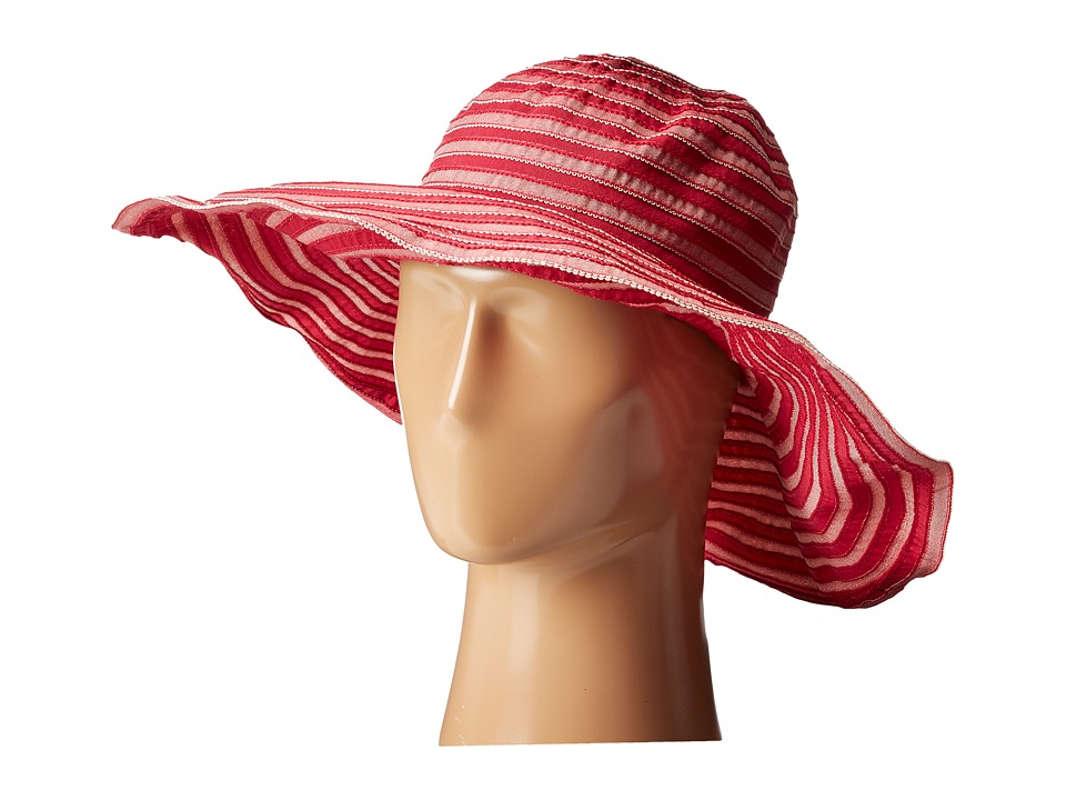 San Diego Hat Company - RBL4788 Tonal Ribbon Wired Brim Hat (Raspberry) Traditional Hats
