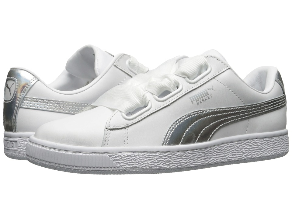 PUMA - Basket Heart Explosive (Puma White/Puma White) Women's Shoes