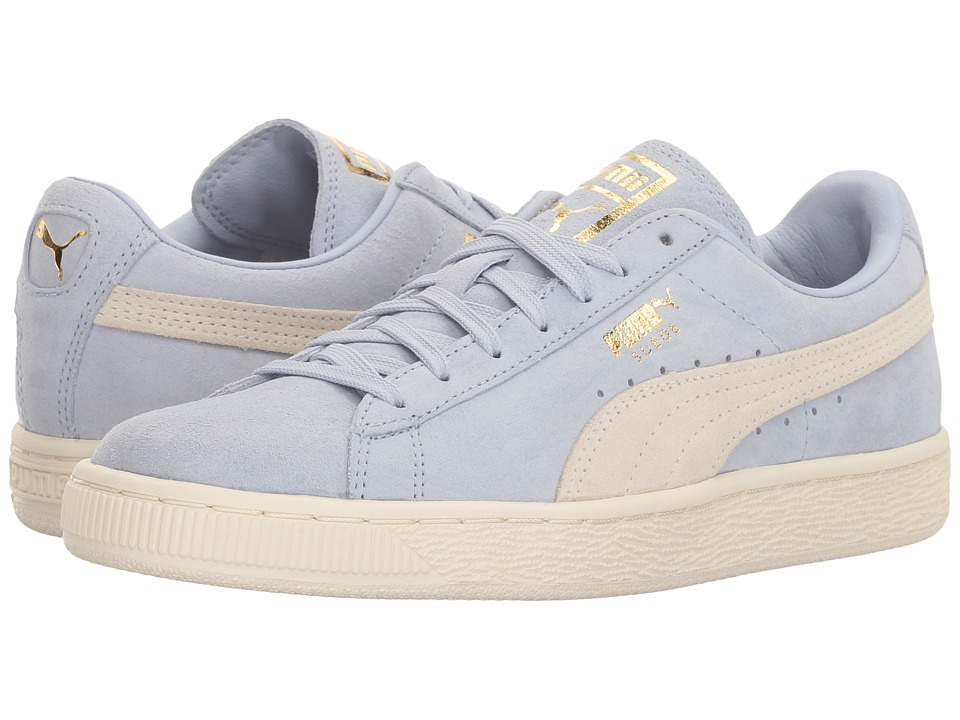 PUMA - Suede Classic Shine (Halogen Blue/Whisper White/Gold) Women's Shoes