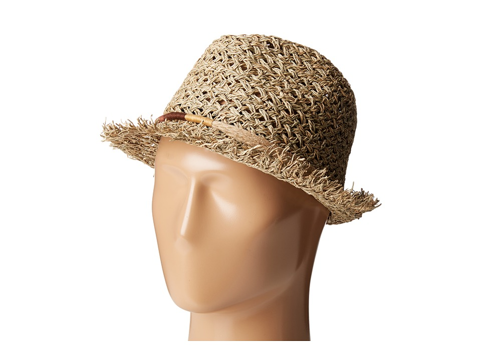 San Diego Hat Company - SGF2017 Open Weave Seagrass Fedora (Natural) Fedora Hats