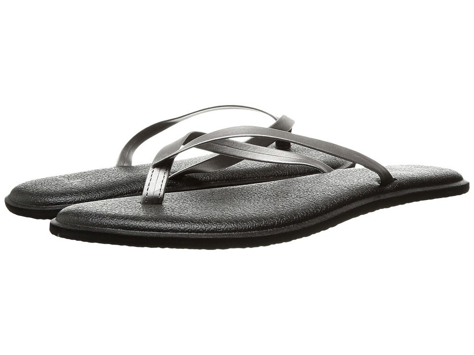 Sanuk - Yoga Bliss Metallic (Pewter) Women's Sandals