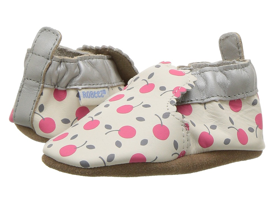 Robeez - Cherry Pie Soft Sole (Infant/Toddler) (Sorbet) Girl's Shoes