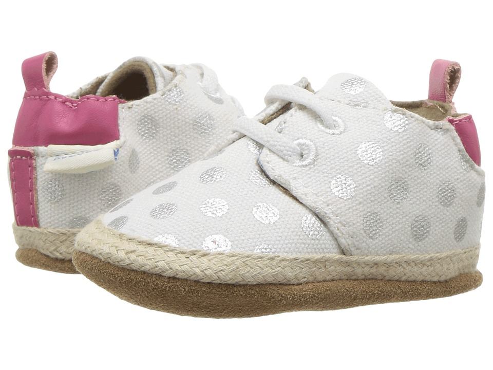 Robeez - Cool Casual Soft Sole (Infant/Toddler) (Cream Dot) Girl's Shoes