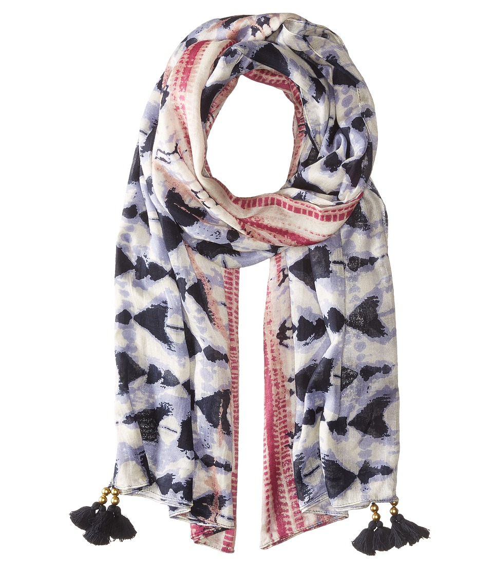 San Diego Hat Company - BSS1715 Woven Tie-Dye Scarf with Tassels (Navy) Scarves