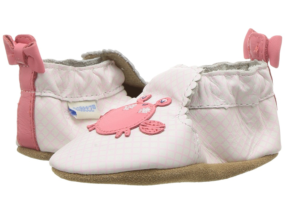 Robeez - Crab Cutie Soft Sole (Infant/Toddler) (Sorbet) Girl's Shoes