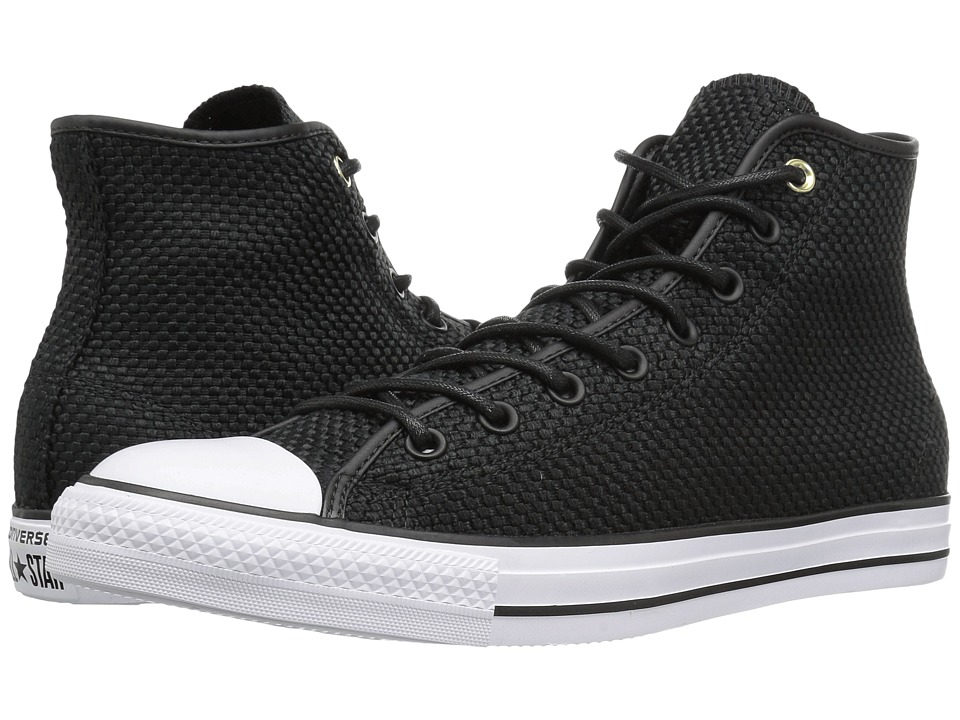 Converse - Chuck Taylor All Star Hi (Black/Black/White) Classic Shoes