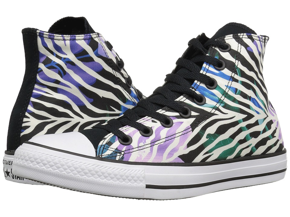 Converse - Chuck Taylor All Star Hi (Black/White/Violet) Classic Shoes