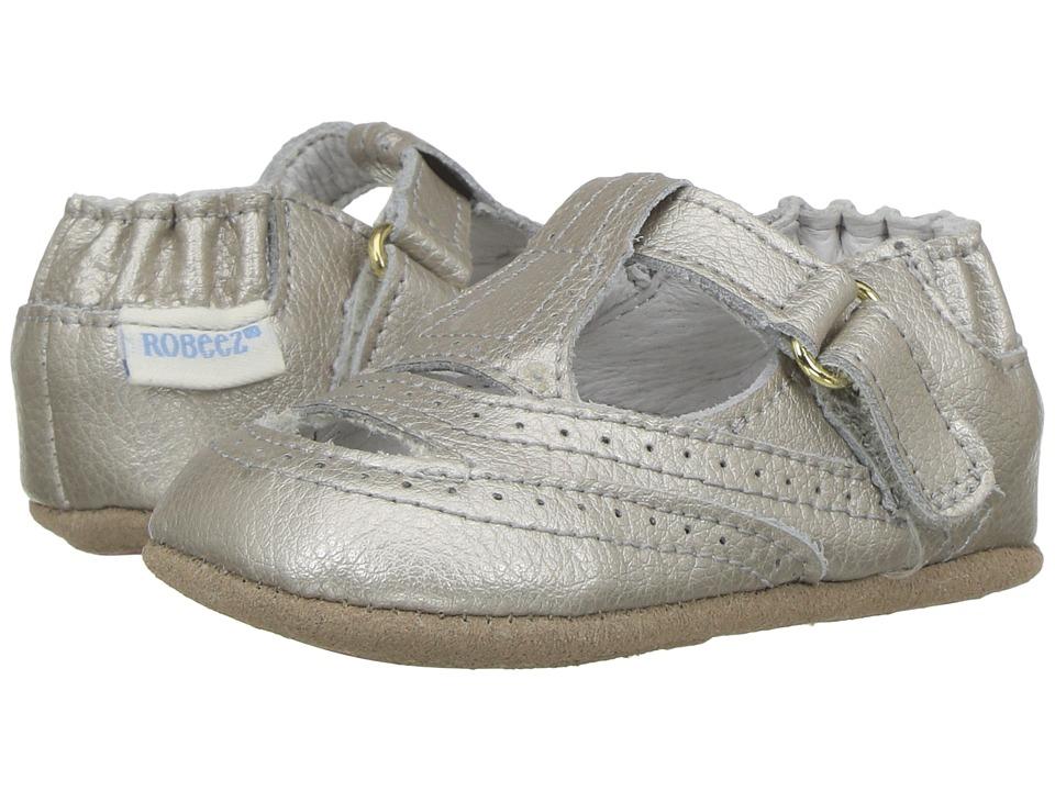 Robeez - Ruby T-Strap Mini Shoez (Infant/Toddler) (Warm Grey) Girl's Shoes