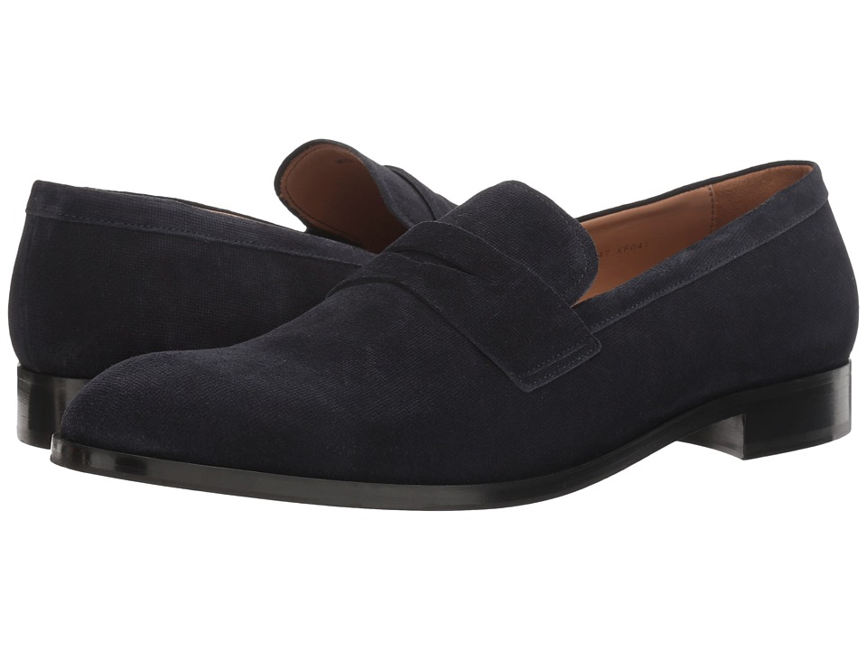 Emporio Armani - Suede Penny Loafer (Night) Men's Shoes