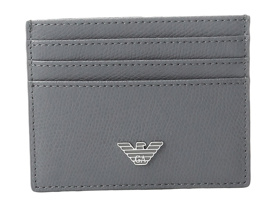 Emporio Armani - Grained Card Holder (Grey) Wallet