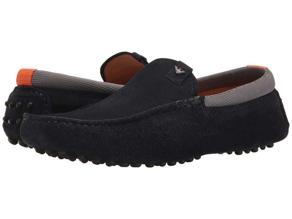 Emporio Armani - Suede Driver (Night/Grey) Men's Shoes