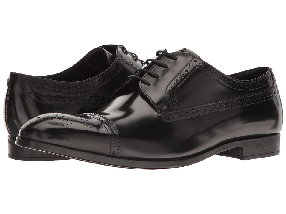 Emporio Armani - Captoe Oxford (Black) Men's Shoes