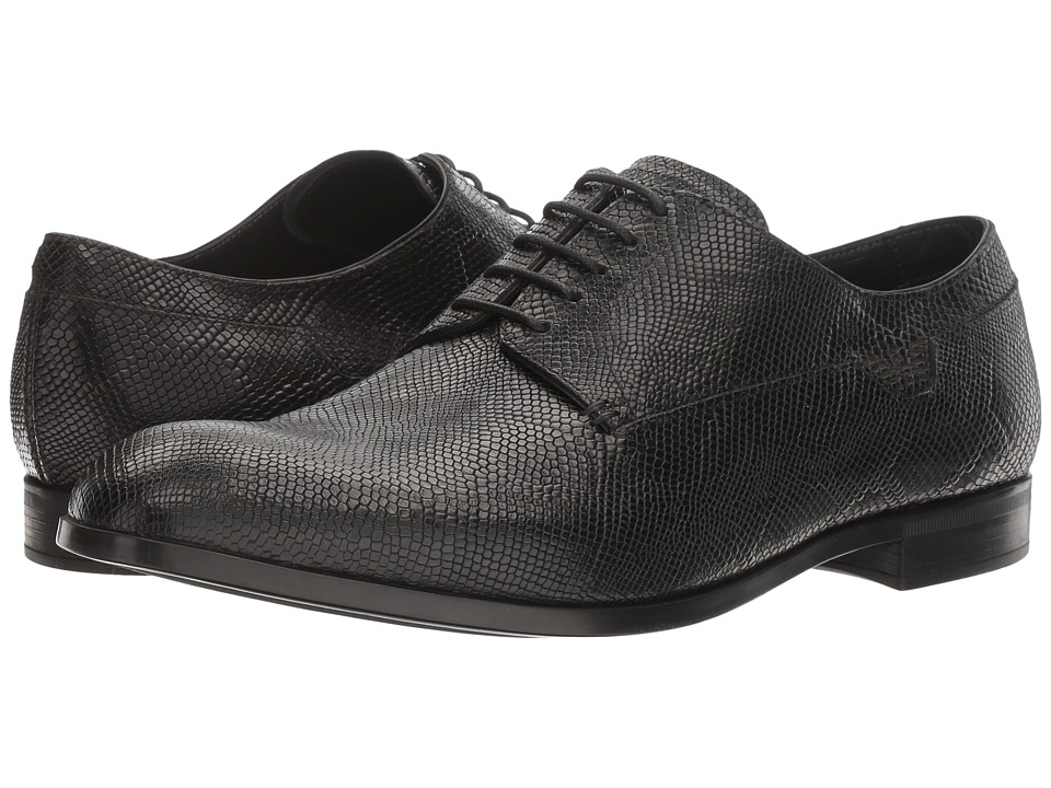 Emporio Armani - Savelli Plain Toe Oxford (Black) Men's Shoes