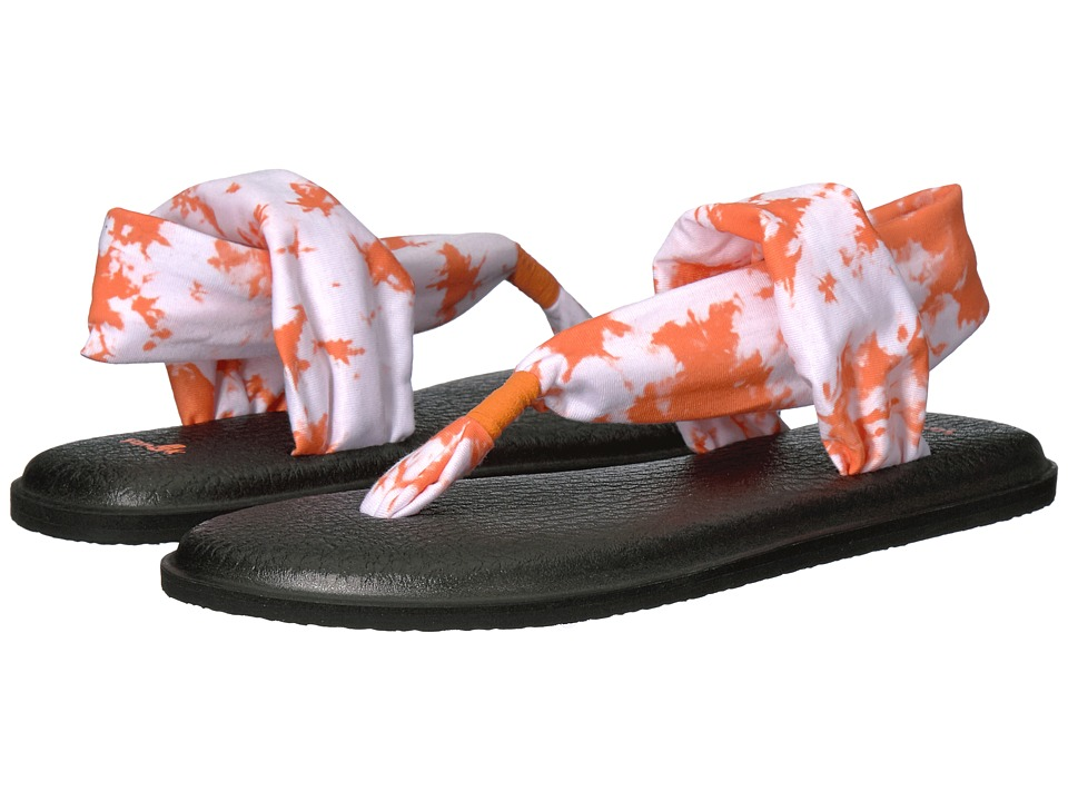 Sanuk - Yoga Sling 2 Prints (Orange Tye Dye) Women's Sandals