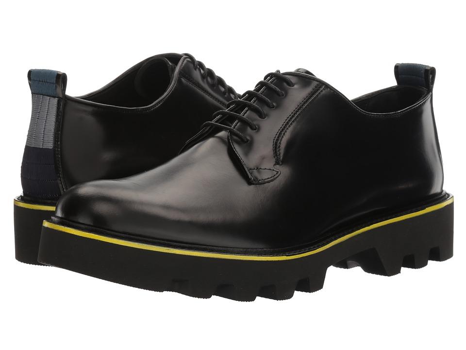 Emporio Armani - Lug Sole Oxford (Black) Men's Shoes