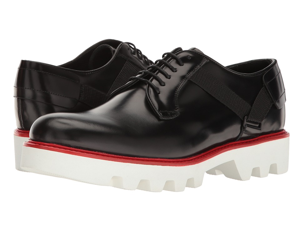 Emporio Armani - Lug Sole Oxford w/ Strap (Black) Men's Shoes