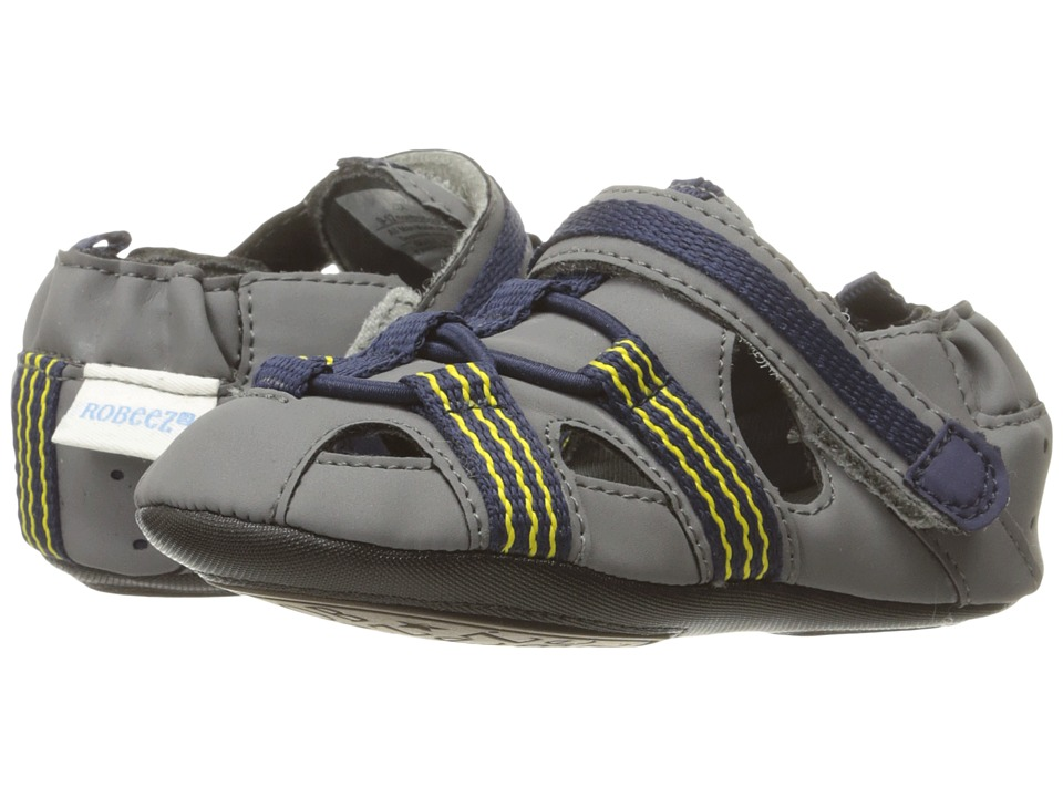 Robeez - Beach Break Mini Shoez (Infant/Toddler) (Navy) Boy's Shoes