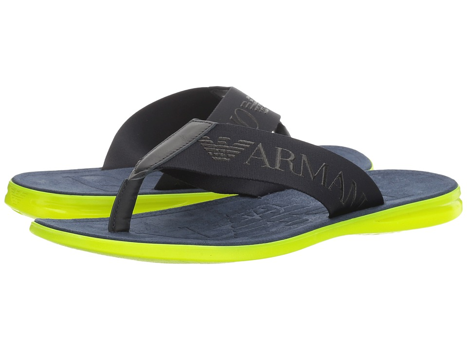 Emporio Armani - Logo Thong Sandal (Night) Men's Sandals
