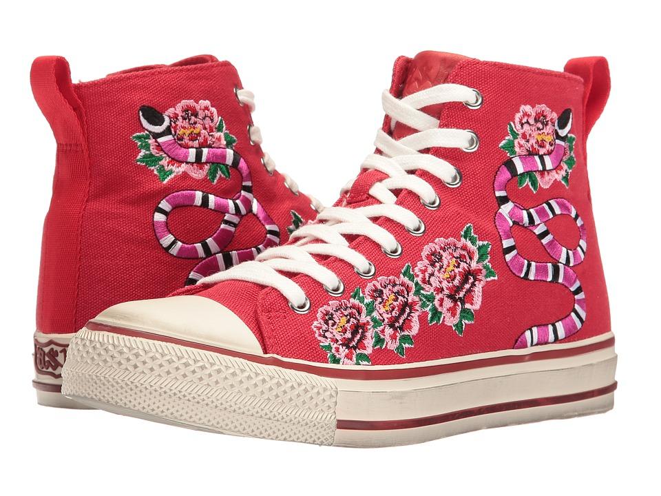 ASH - Vanina (Red/Red 12N Canvas/Brasil) Women's Shoes