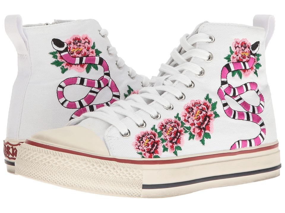 ASH - Vanina (White/White 12N Canvas/Brasil) Women's Shoes