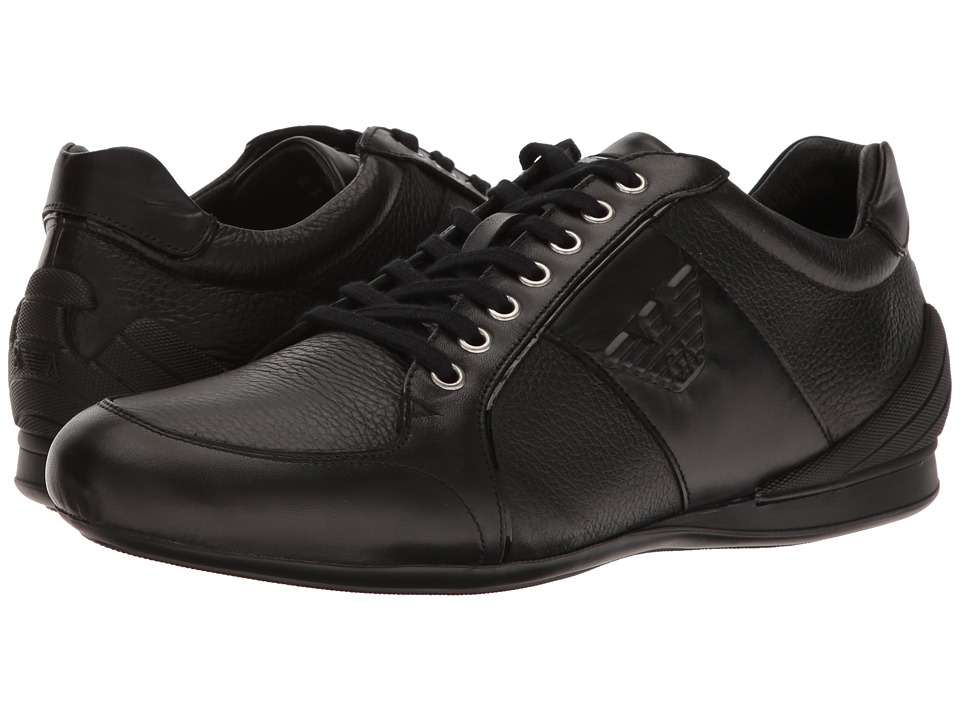 Emporio Armani - Eagle Sneaker (Black) Men's Shoes