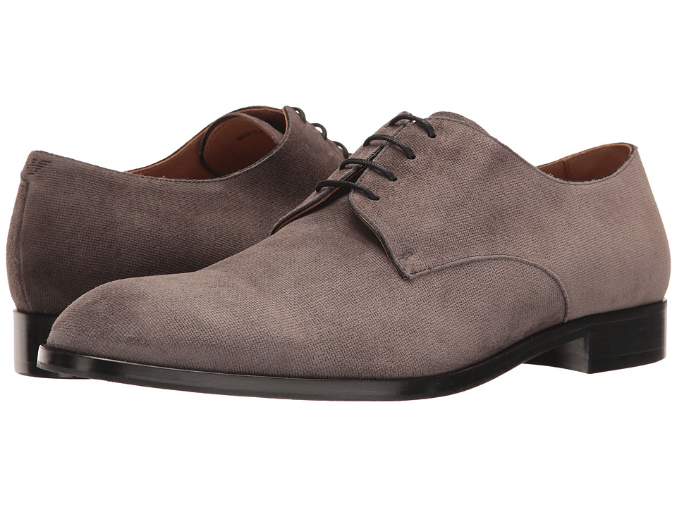 Emporio Armani - Suede Oxford (Pietra) Men's Shoes