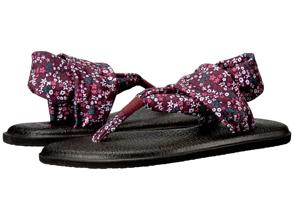 Sanuk - Yoga Sling 2 Prints (Rapture Rose Ditsy Floral) Women's Sandals