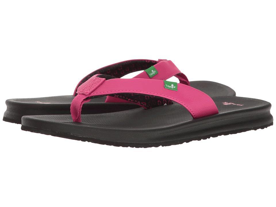 Sanuk - Yoga Mat Wander (Fuchsia) Women's Sandals
