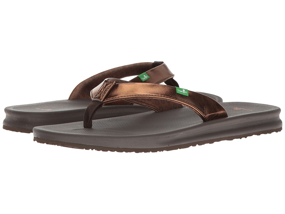 Sanuk - Yoga Mat Wander Metallic (Bronze) Women's Sandals