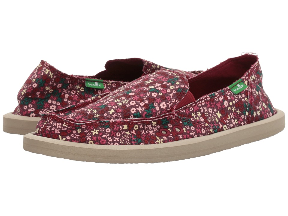 Sanuk - Ditsy Donna (Rapture Rose Ditsy Floral) Women's Slip on Shoes