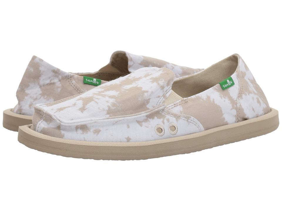 Sanuk - Donna Tie-Dye (Natural Tie-Dye) Women's Slip on Shoes