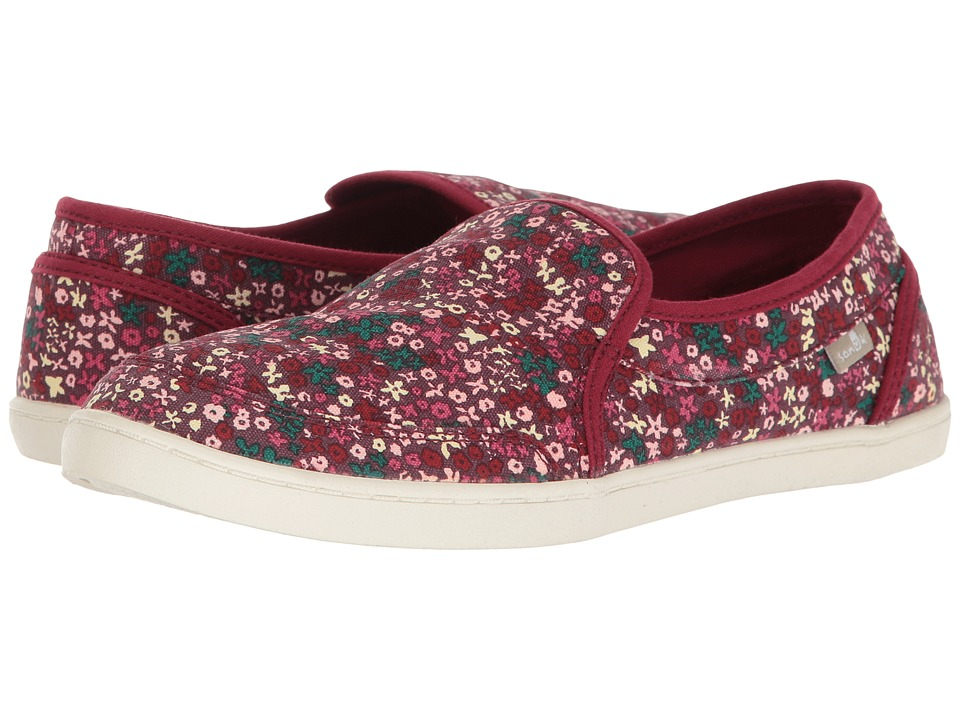 Sanuk - Pair O Dice Prints (Rapture Rose Ditsy Floral) Women's Slip on Shoes
