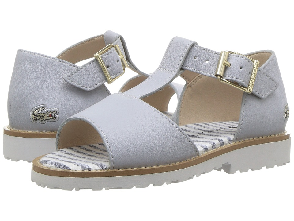 Lacoste Kids Jardena Sandal 217 1 (Toddler) (Light Grey/White) Girls Shoes
