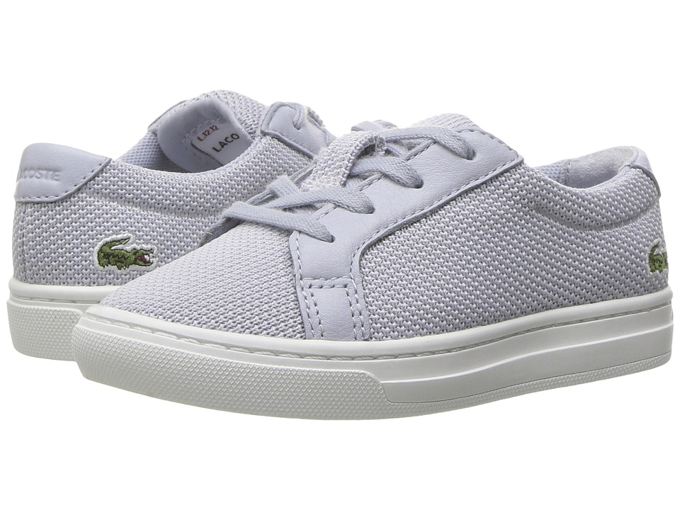 7b72c1378b11 Lacoste Kids - L.12.12 217 1 (Toddler Little Kid) (Light Grey) Kid s Shoes