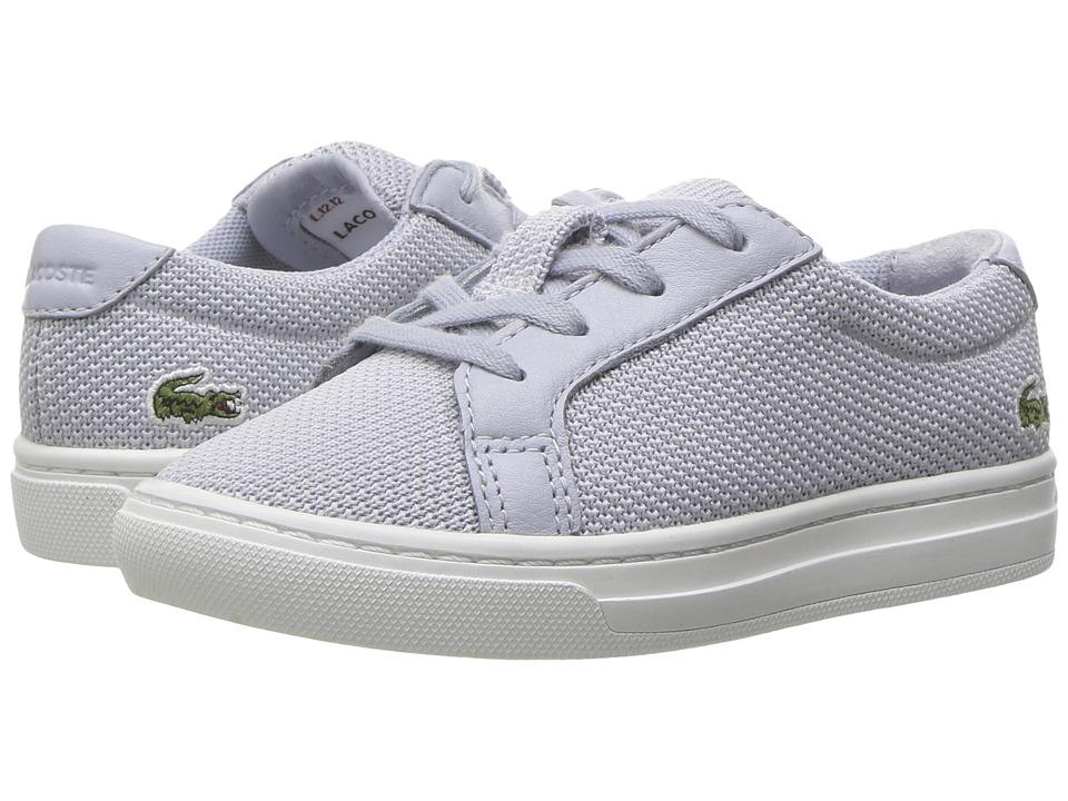 Lacoste Kids - L.12.12 217 1 (Toddler/Little Kid) (Light Grey) Kid's Shoes