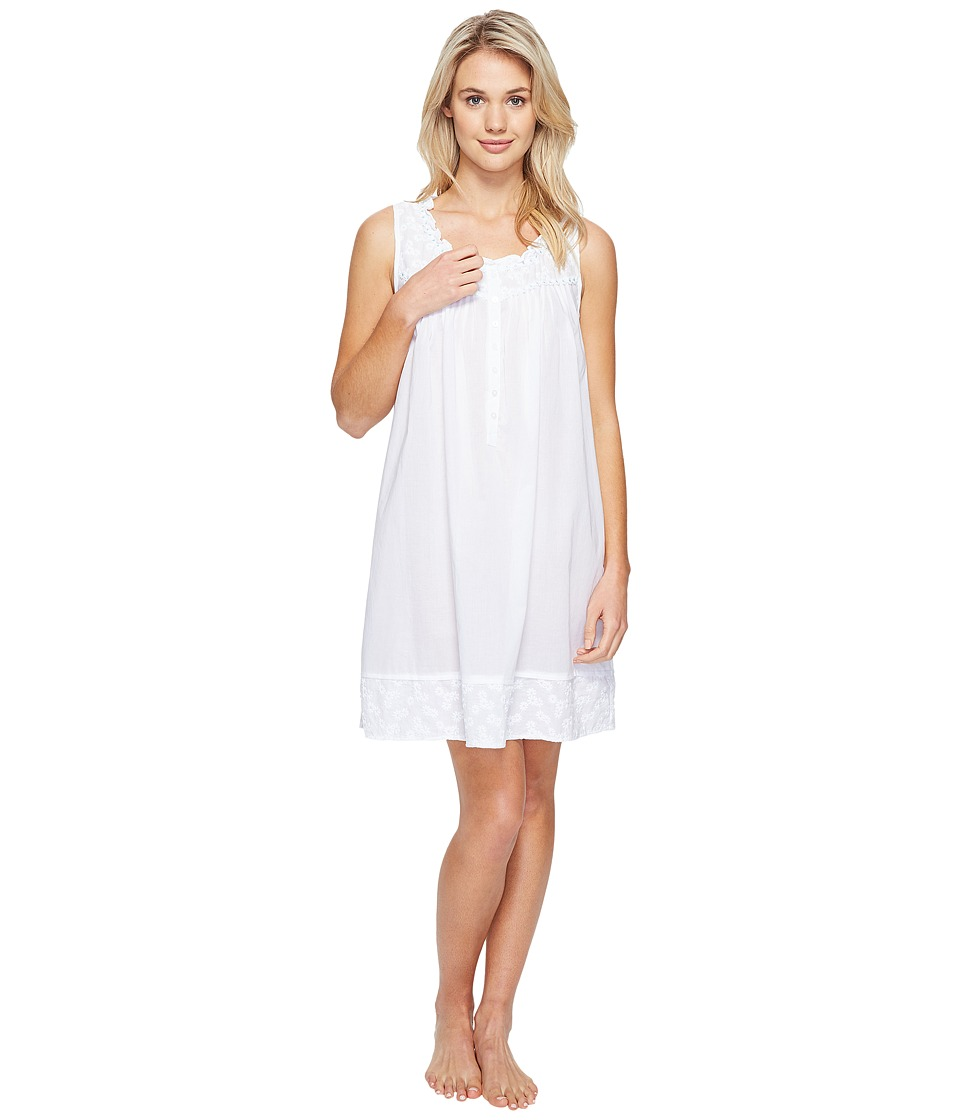 Eileen West - Short Chemise (White) Women's Pajama