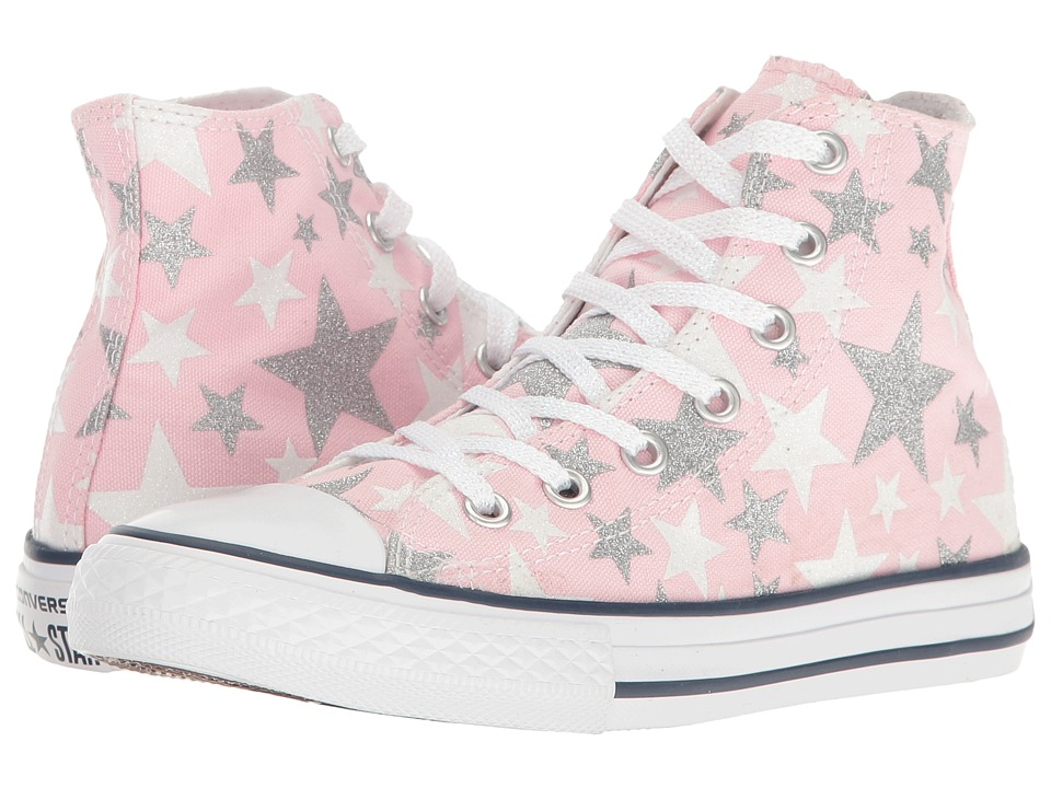 Converse Kids - Chuck Taylor All Star Hi (Little Kid) (Fairy Tale/White/Silver) Girls Shoes