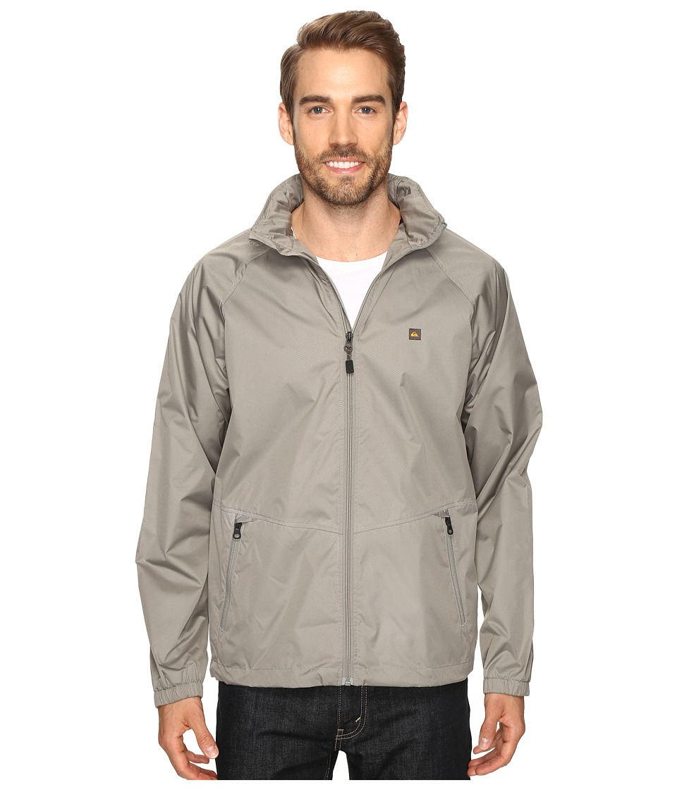 Quiksilver Waterman - Shell Shock 3 Windbreaker (Moon Mist) Men's Clothing