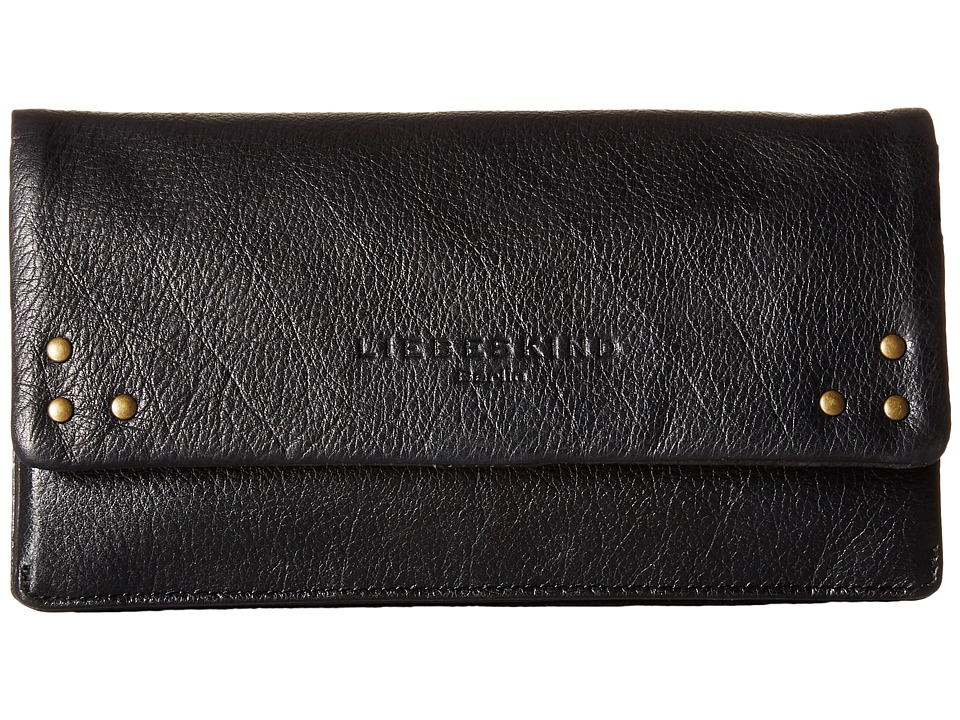 Liebeskind - Slam B Snap Fold-Over Wallet (Black) Wallet Handbags
