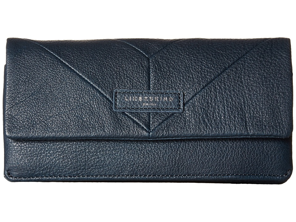 Liebeskind - Slam Snap Fold-Over Wallet (New Dark Blue) Wallet