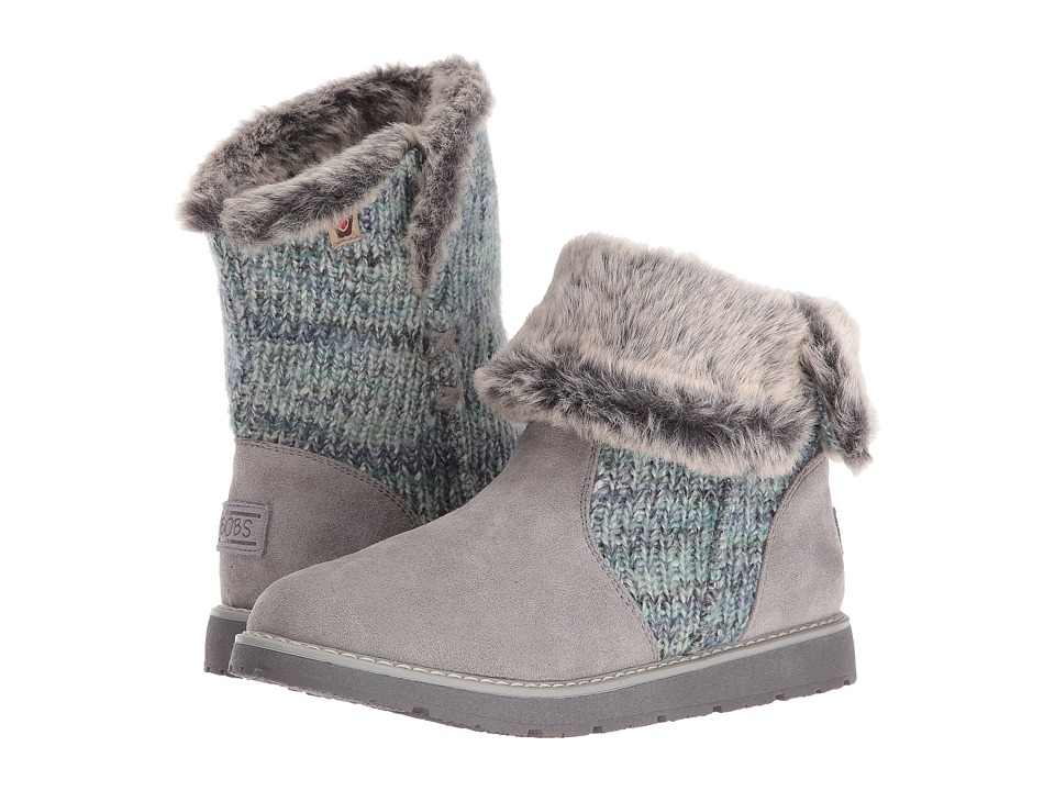 BOBS from SKECHERS - Bobs Alpine - Winter Warrior (Gray) Women's Cold Weather Boots