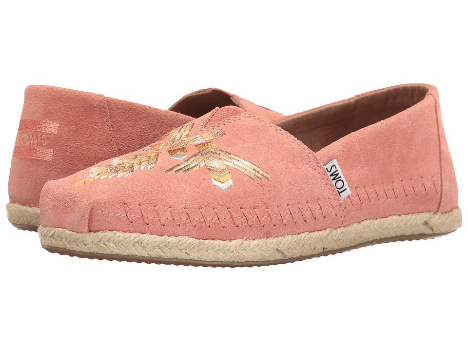 TOMS - Premium Alpargata (Canyon Clay Tribal Embroidered) Women's Slip on Shoes