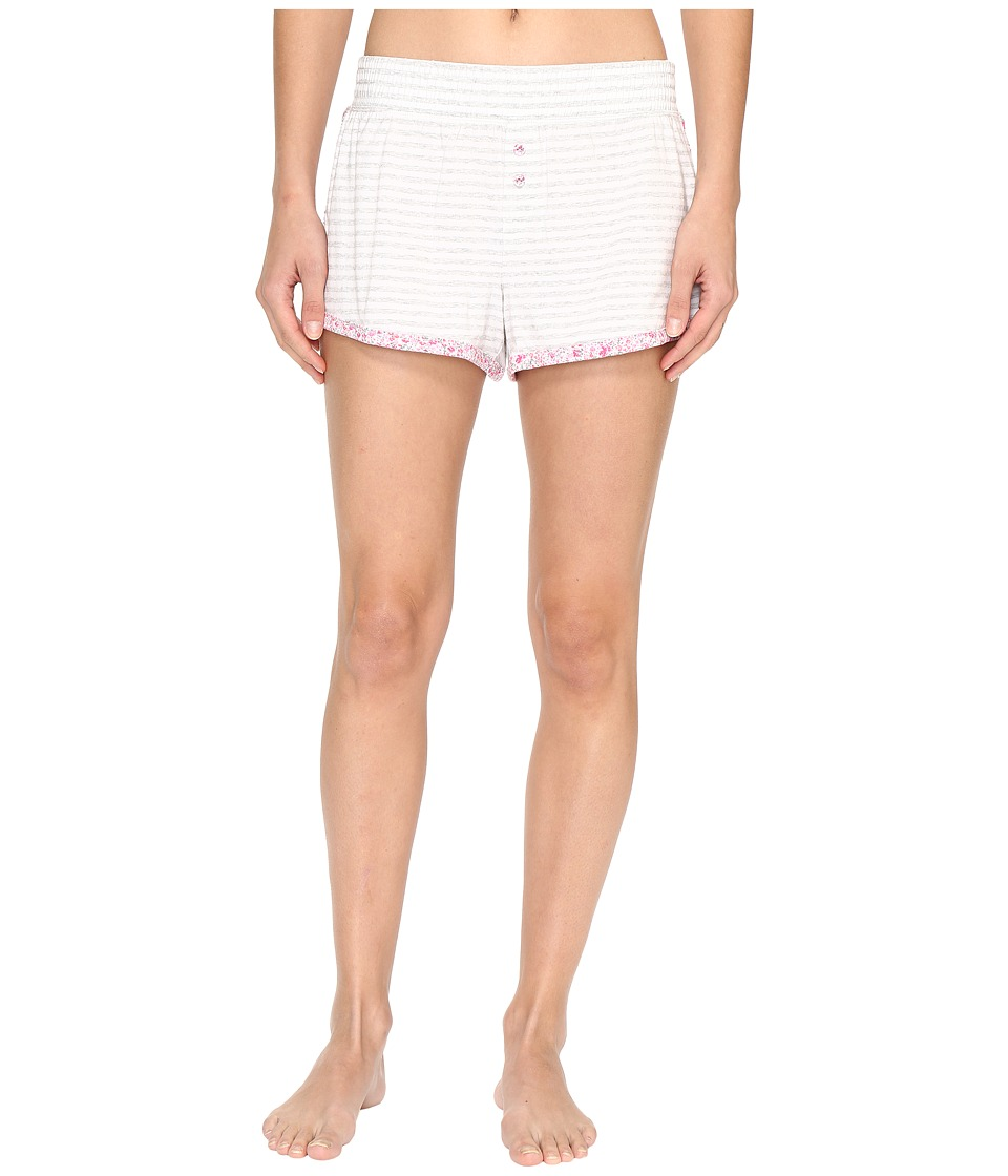 Jane & Bleecker - Jersey Shorts 3511300 (Light Heather Grey Small Twin Stripe) Women's Pajama