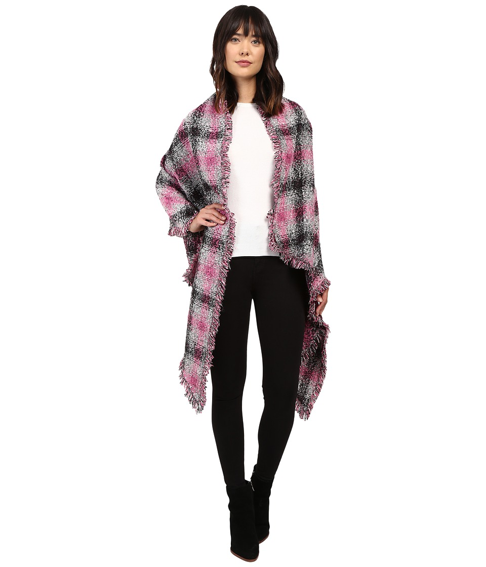 Betsey Johnson - Check Me Out Blanket Wrap (Pink) Women's Clothing