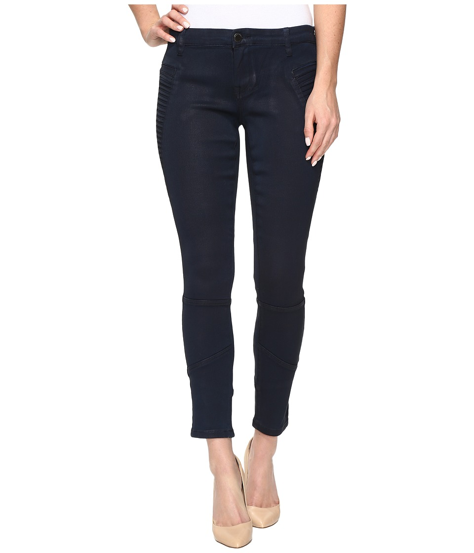 Blank NYC Navy Blue Moto Skinny in Midnight Ink (Midnight Ink) Women