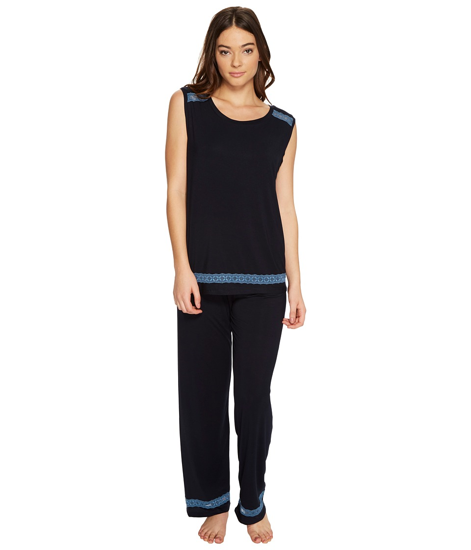 Midnight by Carole Hochman - Sleeveless Modal Pajama (Midnight) Women's Pajama Sets
