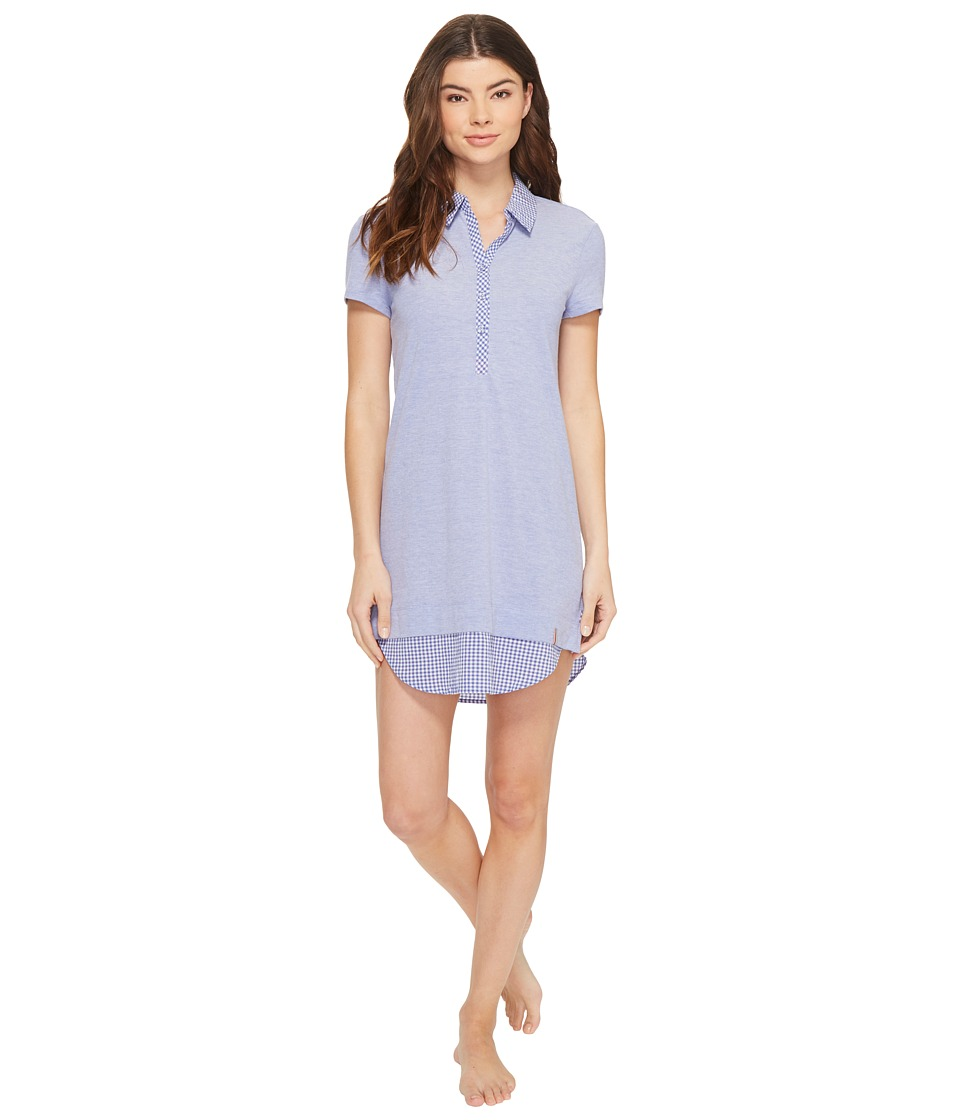 Jane & Bleecker - Peached Pique Short Sleeve Sleep Tee 3561305 (Bluebell) Women's Pajama